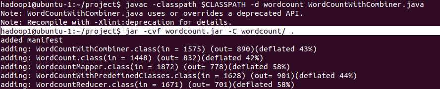 compile wordcount & jar